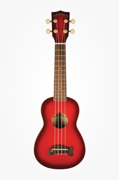 Ukulele Dolphin Bridge Candy Apple Red