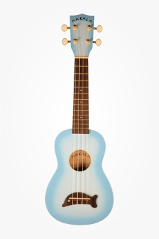 Ukulele Dolphin Bridge Light Blue Burst