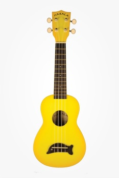 Ukulele Dolphin Bridge Yellow Burst